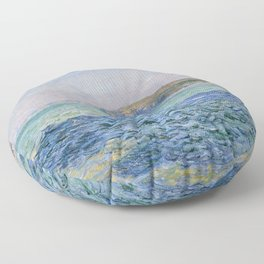 Shadows on the Sea at Pourville by Claude Monet Floor Pillow