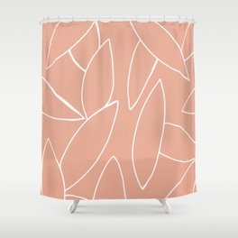 abstract tropical leaves Shower Curtain