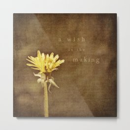 a wish in the making Metal Print