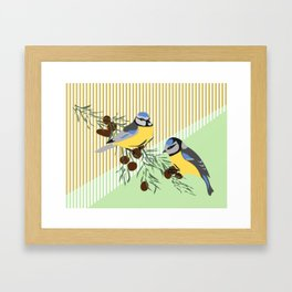 two birds in harmonie Framed Art Print