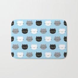 Cute Cats & Kawaii Kittens (Blue) Bath Mat