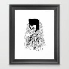 Dead Famous - Elvis Framed Art Print