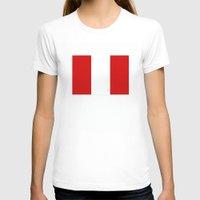 peru T-shirts featuring Peru country flag by tony tudor