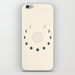 Moon Phases Light iPhone Skin