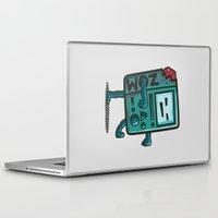 bmo Laptop & iPad Skins featuring ZOM-BMO by Krisren28