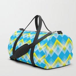 Yellow Green Chevron Duffle Bag