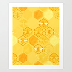 Dance of Bees Art Print