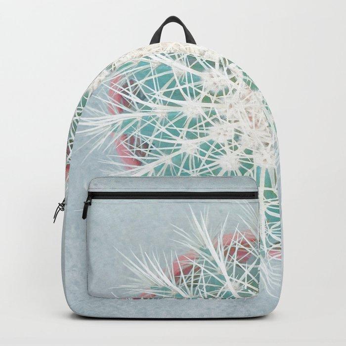 Cactus mandala - aqua mist concrete Backpack