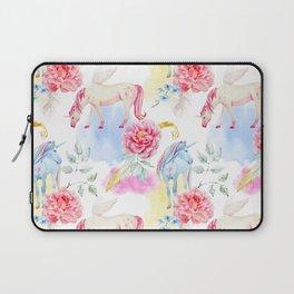 Unicorn Floral Laptop Sleeve