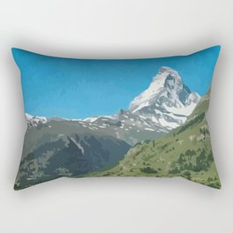 Retro Swiss travel Zermatt and Mount Matterhorn  Rectangular Pillow