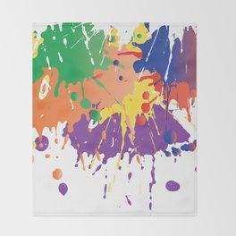 Colourful Paint splash Throw Blanket