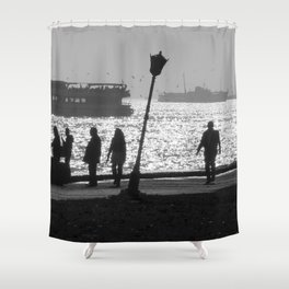 silhouette in Istanbul Shower Curtain