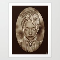 """victorian Art Prints featuring """"VICTORIAN GHOST"""" by Giulio Rossi"""