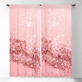 Summer Vibes Glitter #6 #coral #shiny #decor #art #society6 Blackout Curtain