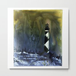 Cape Lookout lighthouse- Outer Banks, North Carolina Metal Print