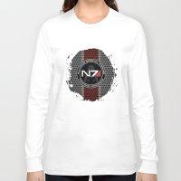 n7 Long Sleeve T-shirts featuring N7 by aleha