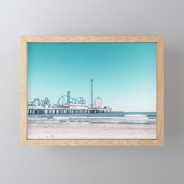 Boardwalk Series - Pleasure Pier, Galveston, TX - Photograph (2 of 2) Framed Mini Art Print