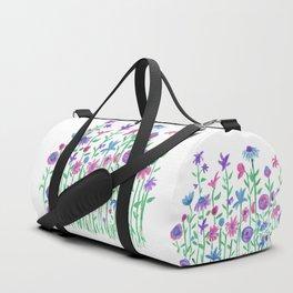 Cheerful spring flowers watercolor Duffle Bag