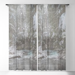 A Quiet Place - Pacific Northwest Nature Photography Sheer Curtain