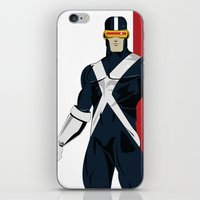 cyclops iPhone & iPod Skins featuring Cyclops by Andrew Formosa