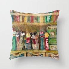 Pez Collection Throw Pillow