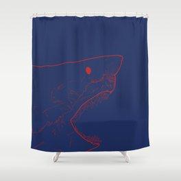 Blue Shark Shower Curtain