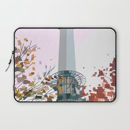 Geometric N Seoul Tower, South Korea Laptop Sleeve
