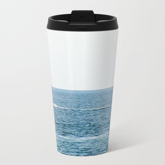 Sea and а ship. Romantic voyage Metal Travel Mug