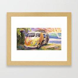 Hippie Surfer Life Framed Art Print