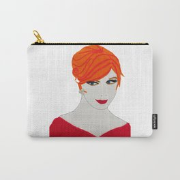 joan of madmen in red Carry-All Pouch