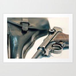 Luger P08 Parabellum handgun. Art Print