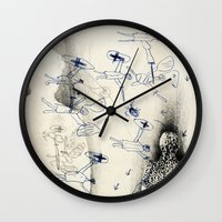"battlefield Wall Clocks featuring ""Battlefield"" - You Do Not Exist by Becy Brooks"