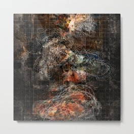 Nebula City Metal Print