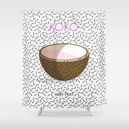 HAIRY FRUIT KOKO Shower Curtain