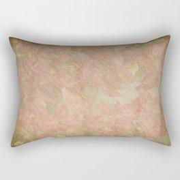 Vintage silk cotton leaves texture decoupage Rectangular Pillow