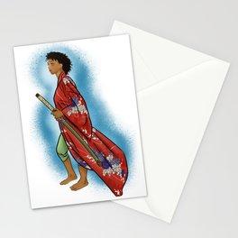 Young Woman Samurai (Onna Bugeisha) Stationery Cards