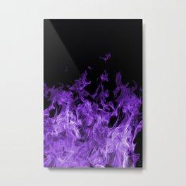 Purple Flames on black Metal Print