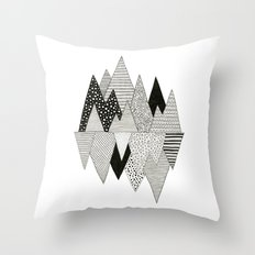 Lost in Mountains Throw Pillow