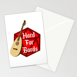 Hard For Bards - Dungeons & Dragons Stationery Cards