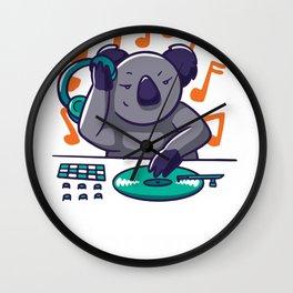 Highly Koalafied DJ - Beatmaker Koala Bear Wall Clock