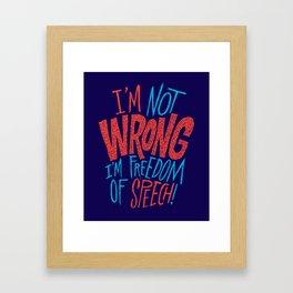 Freedom of Speech Framed Art Print