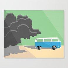 Dharma Van vs Smoke Monster Canvas Print