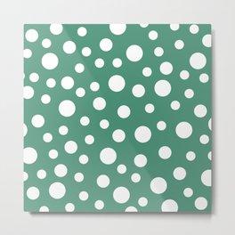 Crazy Dots: Comfrey Green  Metal Print