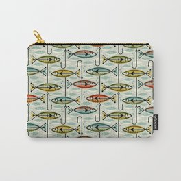 Vintage Color Block Fish Carry-All Pouch