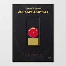 No003 My 2001 A space odyssey 2000 minimal movie poster Canvas Print