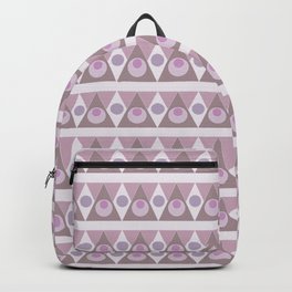 Geometric background pink pattern - circles, triangles, vector. Backpack