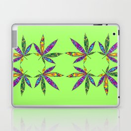 Patchwork Pot Leaves Laptop & iPad Skin