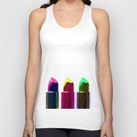 lipstick Tank Tops featuring Lipstick  by aldarwish