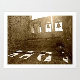 Sepia Bells at San Capistrano Art Print