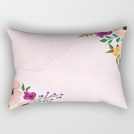 God Bless Our Home Floral Art Rectangular Pillow